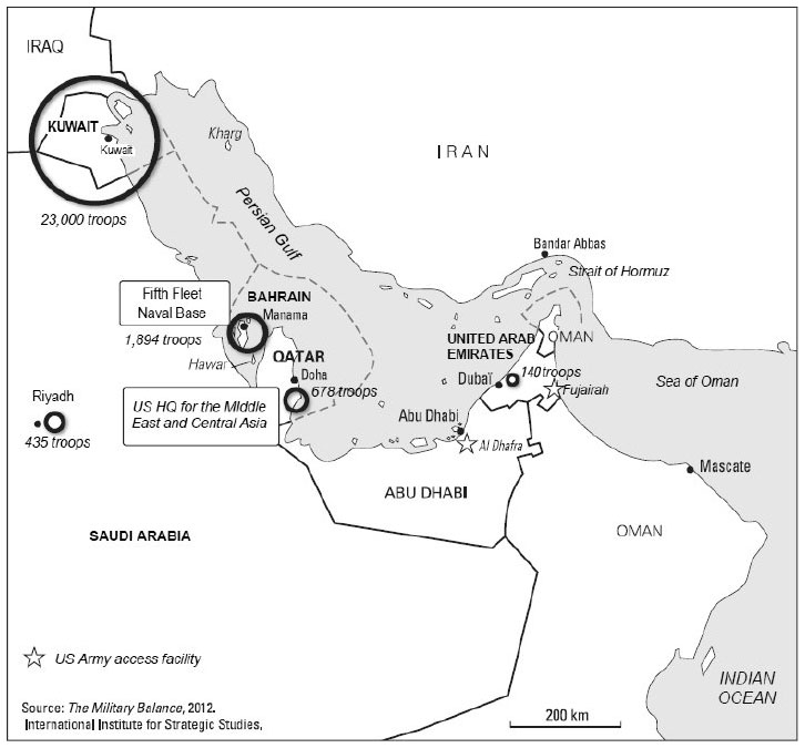 map 1 us military bases in the persian gulf map 1