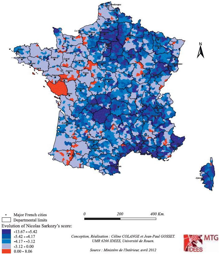 Map Of France Voting.Understanding And Analysing The Vote In The 2012 Presidential