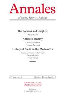 Annales. Histoire, Sciences Sociales 2012/4