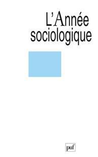 L'Année sociologique 2012/1