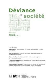 Déviance et Société 2016/2