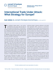 International trade under attack: What strategy for Europe? | Cairn