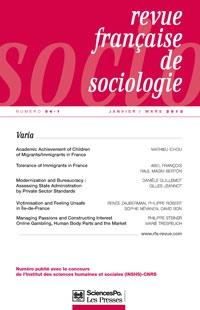 Revue française de sociologie 2013/1