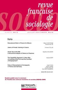 Revue française de sociologie 2013/3
