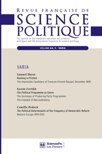 the political programme as genre the sociology of producing party