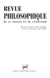 Revue philosophique de la France et de l'étranger 2010/1