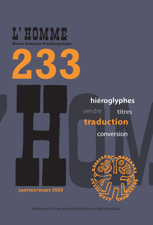 Journal L'Homme | Cairn International Edition