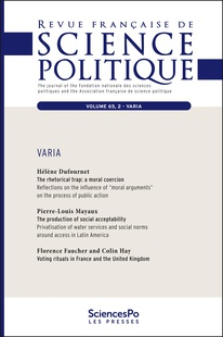 Voting Rituals In France And The United Kingdom Cairn International