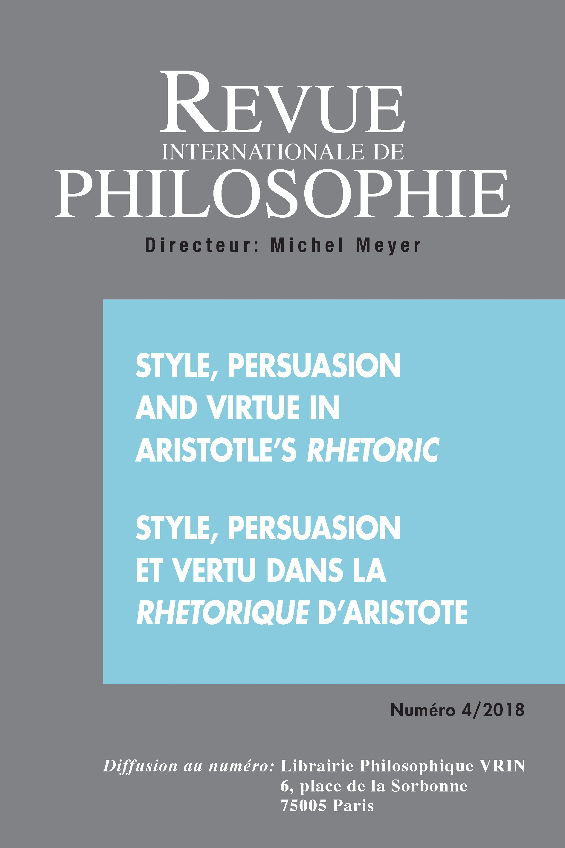 Aristotle S Rhetoric On Rhetoric S Definition And Limits Cairn International Edition